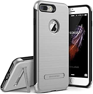 iPhone 7 Plus Case, VRS Design [Duo Guard Series] Heavy Duty Military Grade Protection with Metal Kickstand for Apple iPhone 7 Plus 2016 - Satin Silver