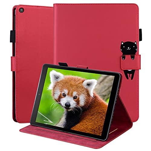 OKZone Hülle für iPad Air 10,5 (3. Generation 2019) und iPad Pro 10,5 2017, Folio Kunstleder Schutzhülle mit Standfunktion, Cover Lightweight Schutzhülle Tasche und Auto Schlaf/Wach Funktion(Rot)