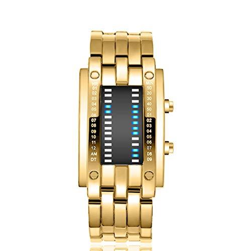 Lowest Prices! Muranba Luxury Men's Watch Stainless Steel Date Digital LED Sports Bracelet Wrist Wat...