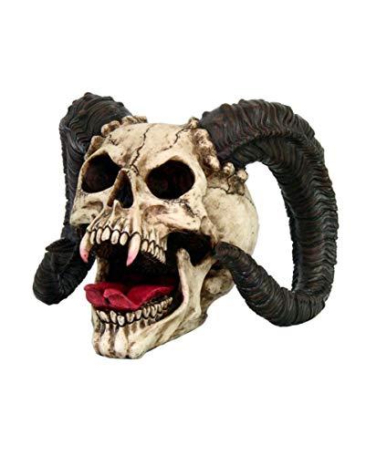 Horror-Shop Havok's Hellion - Totenkopf als Gothic Deko aus Polyresin