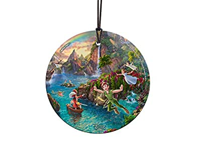 Trend Setters Disney – Peter Pan – Tinker Bell – Neverland – Starfire Prints Hanging Glass – Light Catching Hanging Décor – Ideal for Gifting and Collecting