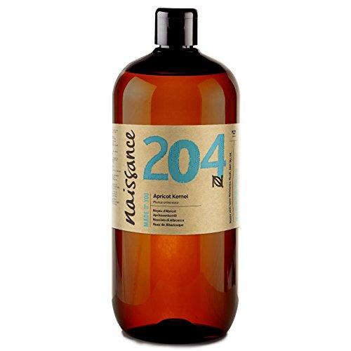 Naissance Aprikosenkernöl (Nr. 204) 1 Liter (1000ml) - rein, natürlich, vegan, gentechnikfrei - feuchtigkeitsspendend & pflegend