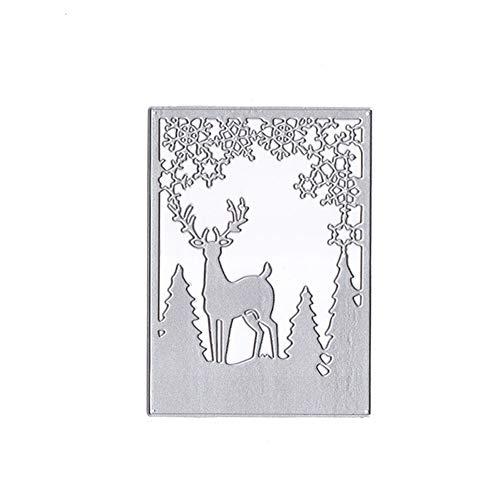 Zreal vormen voor cake, metaal, kerstboom, eland, hert, sneeuwvlok, sjabloon, gereedschap om te knutselen