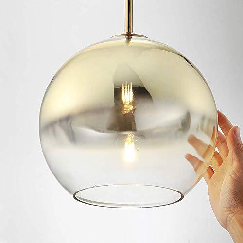 NZDY Bola de Globo de Cristal Moderna Led E27 Base Luz Colgante Nordic Plata Oro Pantalla de Lámpara Colgante Sala de Estar Lámparas de Suspensión Accesorios de Iluminación de Cocina Luminaria