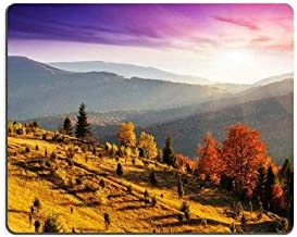 Mousepads Majestic Morning Mountain Landscape with Colorful Forest Dramatic Overcast Sky Mat Customized Desktop Laptop Gaming Mouse pad