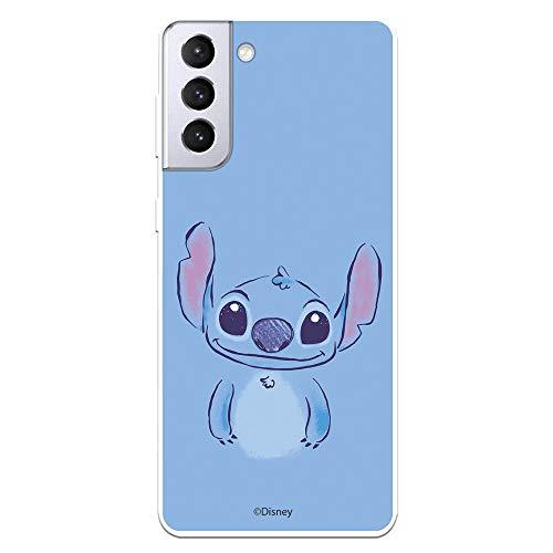 Funda para Samsung Galaxy S21 Plus Oficial de Lilo & Stitch Stitch Azul. Protege tu móvil con la Carcasa para Samsung de Silicona Oficial de Disney.