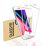 【2枚セット】iPhone 8ガラスフィルム 強化ガラス iPhone 8 液晶保護フィルム 日本旭硝子素材 iPhone 7 強化ガラスフィルム 業界最高の硬度9H 99%高透過率 指紋防止 飛散防止 3Dタッチ 気泡ゼロ 自動吸着 iPhone 8 フィルム