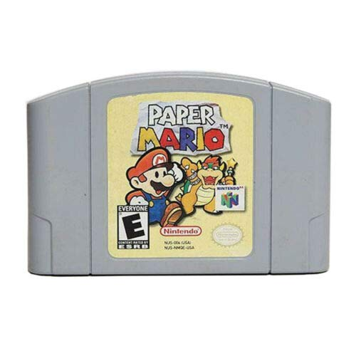 Mario Paper N64 Game Cartridge Card for Nintendo 64 N64 Console US Version