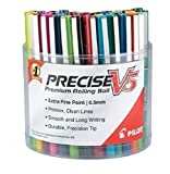 Pilot Precise V5 Stick Liquid Ink Rolling Ball Pens Display Tub, Extra Fine Point, Assorted Ink, 48 Pens (85003)