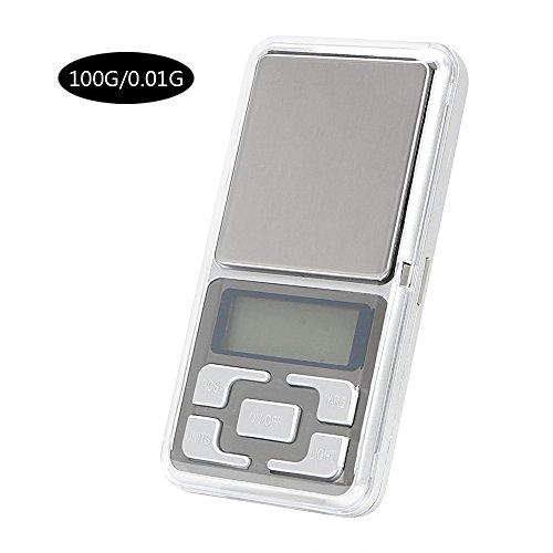 Zakweegschaal digitale weegschaal 0,01 g draagbaar 100/200/300/500 g goud diamant weegschaal gewicht Lab Medische gewicht LCD elektronische sieradenweegschaal A