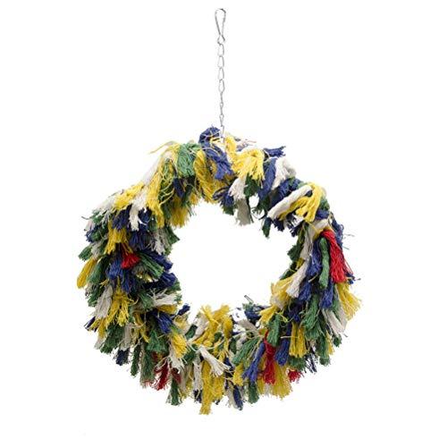 POPETPOP Vogel Spielzeug Papagei Schaukel Kuschelring Brücke für afrikanische graue kleine Kakadu (zufällige Farbe)