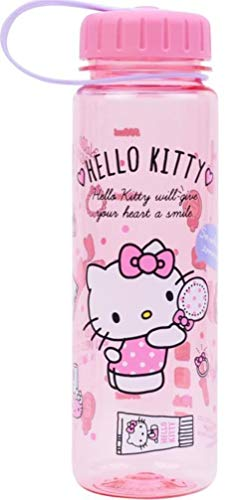 19-oz Hello Kitty BPA & BPS Free Tritan Heat & Cold Resistant Water Bottle w Removable Inner Adapter