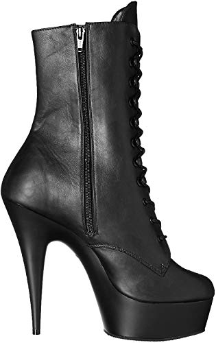 Pleaser Delight-1020 - Botas Mujer, Negro (Schwarz (Blk Faux Leather/Blk Matte)), 36 EU (Ropa)
