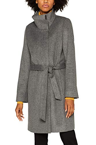 ESPRIT Collection Damen 099EO1G025 Mantel, Grau (Gunmetal 5 019), Small (Herstellergröße: S)