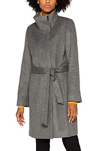 ESPRIT Collection Damen 099EO1G025 Mantel, Grau (Gunmetal 5 019), Large (Herstellergröße: L)
