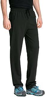 Trailside Supply Co. Men's Elastic-Waist Drawstring Pants Front Zipper Pockets,Sweat,Sport,Running, Track Pants