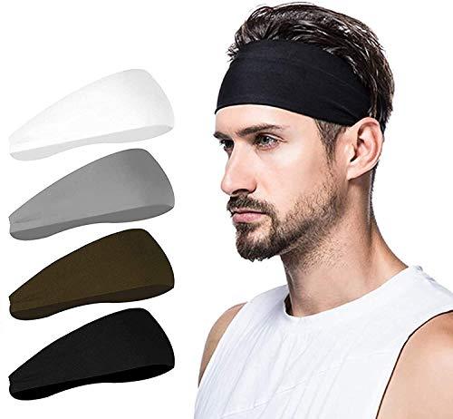poshei Stirnband Herren, Unisex Haarband ,Schweißband Stirnband Damen Sport für Laufen, Radfahren, Yoga, Basketball