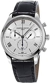 Frederique Constant Classics Silver Dial Leather Strap Men's Watch FC-292MS5B6