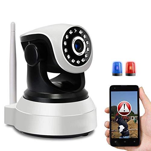 Monitor de Bebé HD 1080P Cámara IP WiFi PTZ Cámara de Vigilancia Interior,Email Alarm,Control App,HD IR Visión Nocturna,Alarma de Movimiento,Audio Bidireccional,iOS/Android 【Cámara+64G-TF-Tarjeta】