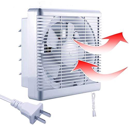 換気扇 窓 浴室 給排形 連動式 シャッター 蚊よけ 引きひもスイッチ 格子フィルター 2個以上を買うと、同時吸気排気でき 新鮮な空気を吸入 汚い空気を排除 100v/110v 排気ファン 羽根径 15cm 25cmのカバー 台所 トイレ ガレージ 屋根裏 通気用 送風機