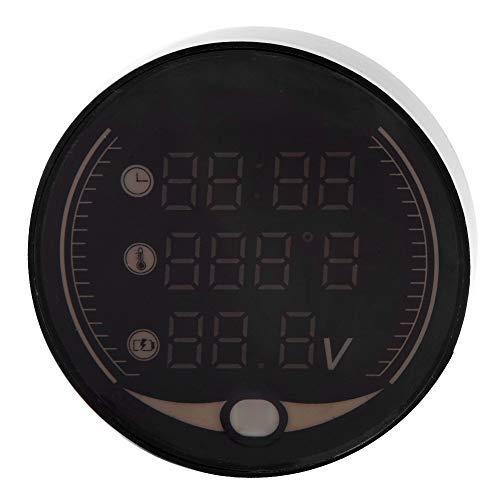 Zusatzinstrumente - 3-in-1 Motorrad Elektronische Digital Voltmeter Time Clock Temperaturanzeige