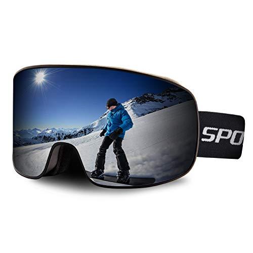 BangLong Skibrille, Snowboard Brille für Brillenträger Herren Damen Schneebrille OTG UV-Schutz Anti Fog Skibrillen für Wintersportarten, Skifahren, Skaten Upgrade