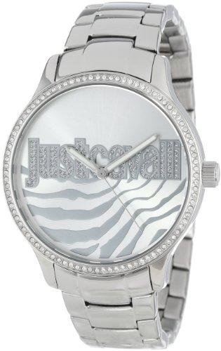 Just Cavalli R7253127509 - Reloj analógico de Cuarzo para Mujer con Correa de Acero Inoxidable, Color Plateado