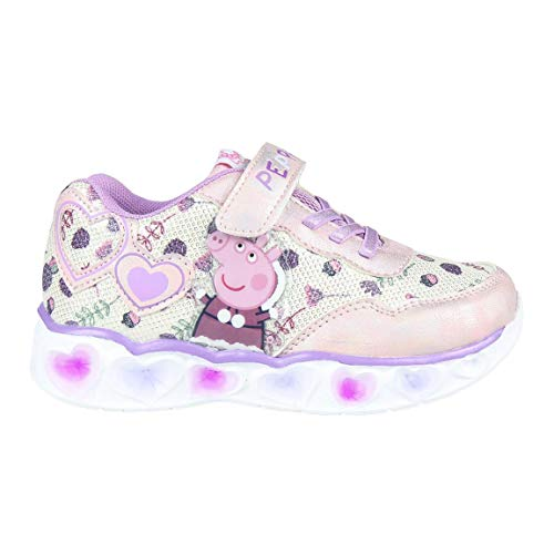 CERDÁ LIFE'S LITTLE MOMENTS Cerdá-Zapatillas LED Peppa Pig de Color Lila, Niñas, 24 EU