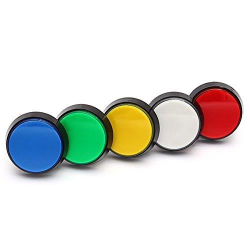 C-FUNN Arcade-Videospiel-Player, LED-Licht, 60 mm, 5 Farben, Rot