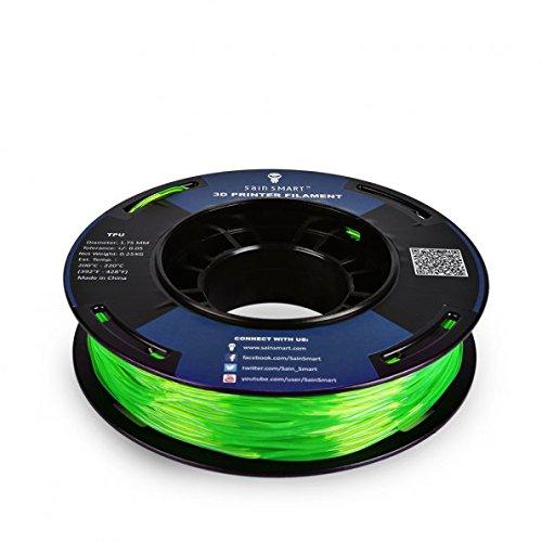 SainSmart Kleine Spule 1.75mm TPU Flexible 3D Filament 250g, Maßgenauigkeit +/- 0,05 mm, Shore 95A (Green)