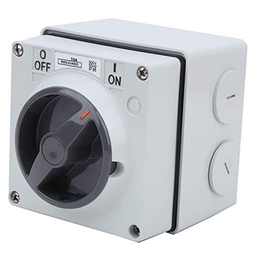 IP66 Interruptor exterior ON-OFF resistente al agua con agujero de bloqueo de seguridad (4P10A)