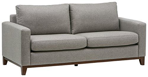 Amazon Brand – Rivet North End Exposed Wood Modern Sofa, 78'W, Grey Weave
