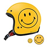 Smiley Face限定 オリジナル ジェット ヘルメット YELLOW SF0010 (M) スマイリー ステッカー おまけ付き
