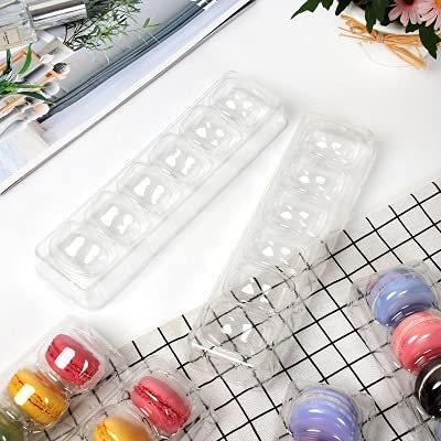 jwj plastic containers Macarons Party Supplies Bomboniere Favors Party Supplies Box Containers storage containers (Color : Clear, Gift Box Size : 22.5x6.5x5cm)