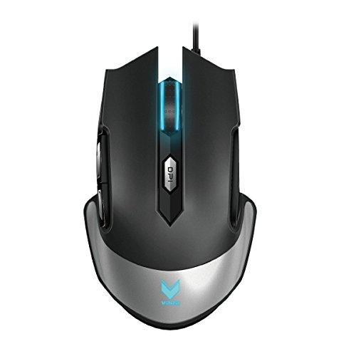 Rapoo VPRO V310 Laser Gaming Maus, Integrierter Speicher, LED-Beleuchtung, exakte Bewegungserfassung, schwarz