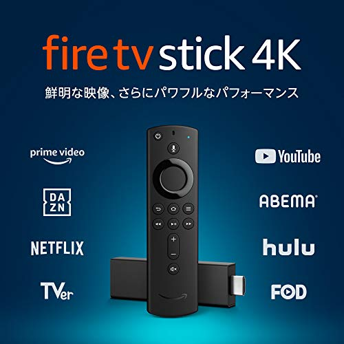 Fire TV Stick 4K – Alexa対応音声認識リモコン付属
