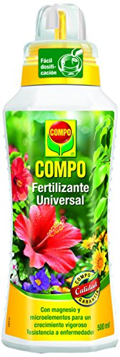 Compo Calidad para Plantas Ornamentales de Interior o terraza, Fertilizante líquido Universal con Extra de magnesio, 500 ml