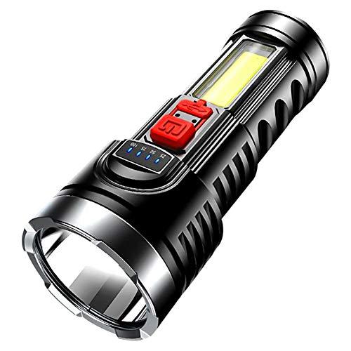 WXJWPZ 9000lm Linterna estupenda 4 de la antorcha LED Recargable de los Modos Potente USB con Construido en la batería 18650 táctico luz del Flash de la antorcha de Camp