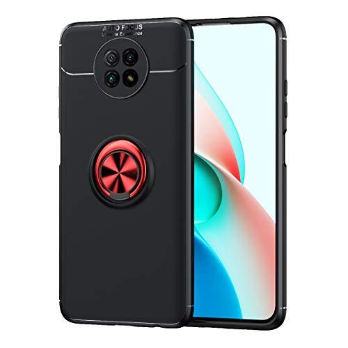 SORAKA Funda para Xiaomi Redmi Note 9T con Anillo Giratorio de 360 Grados Funda Silicona Suave Funda Ultrafina con Placa de Metal para Soporte magnético de teléfono para automóvil