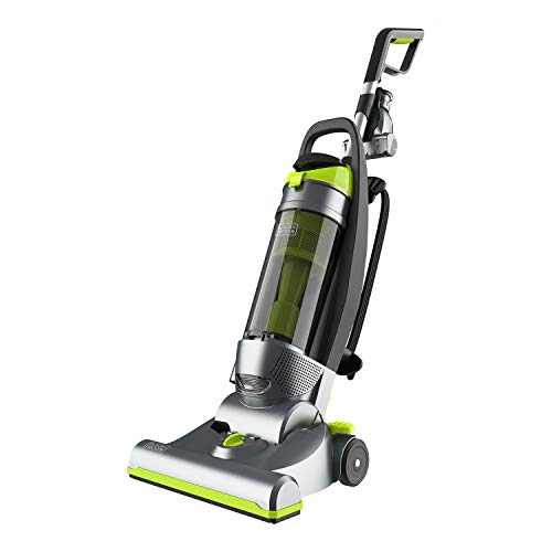 Black and Decker BDURV309 Corded Bagless Upright Pet Home Vacuum with HEPA Filter and Attachments, Gray/Green