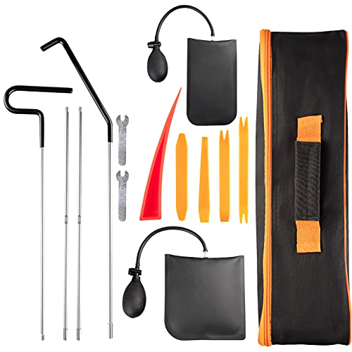 Carforu Full Set of Professional Car Tool Kits, Long-Distance Grab, Air Wedge Pump, Non-Damaged Wedge, Waterproof Suitcase