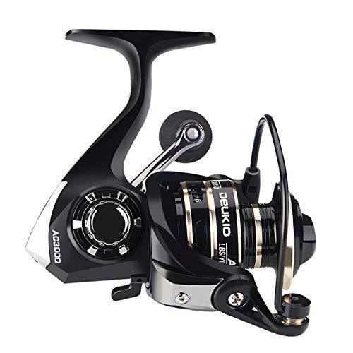 HNQH Carrete de caña de pescar Gear-ac con brazo basculante de metal para ahorrar energía