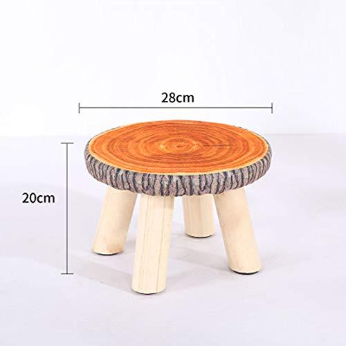 Taburete de madera setas de doble espora de moda no deslizan taburetes para ni?os taburetes modernos mini calzado deportivo taburete creativo taburete port¨¢til(28x20cm)