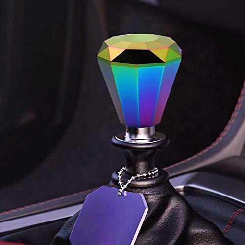 Kyostar Universal Aluminum Diamond Shift Knob, Manual Car Gear Stick Shift Knob Shifter Lever Head 8/10/12MM Adapter(Neo Chrome)