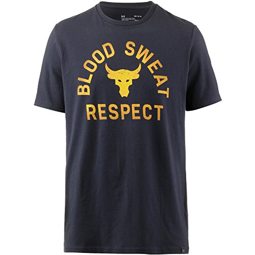 Under Armour - T-Shirt Uomo UA x Project Rock Blood Sweat Respect - Black (001) - Small