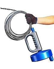 回転式 5m パイプ クリーナー ワイヤー 詰まり取り お風呂 トイレ 洗面所 排水口 下水 修理 解消 (5m)