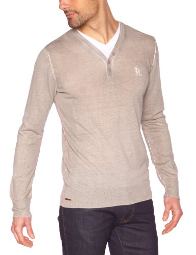 Japan Rags - Pull - Homme - Gris (0256 Steel) - XL