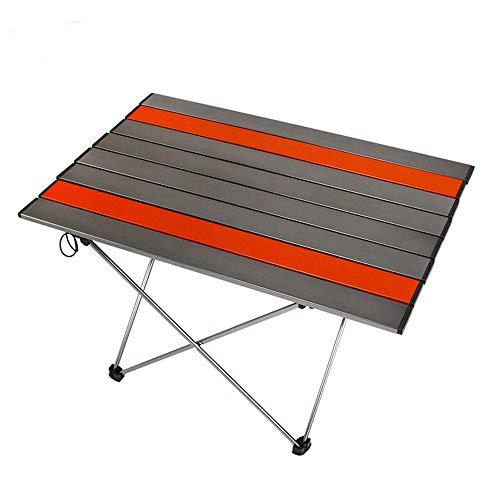 ZFH Aluminio portátil Mesa de Camping Altura Ajustable Plegable Ligero Material Resistente Comedor Cocina Senderismo Camping Picnic Playa Al Aire Libre Esencial,Silvergray,S
