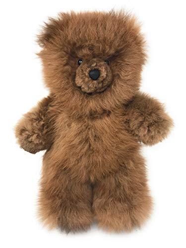 Inca Fashions - 100% Baby Alpaca Fur Teddy Bear - Hand Made - Honey - Hypoallergenic & Pillow Soft (12 Inch)