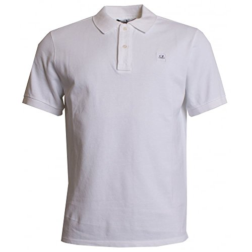 C.P. Company Short Sleeve Regular Fit Polo Shirt White Large